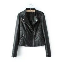 Custom Made Women Leather Motorcycle Jackets By China Factory