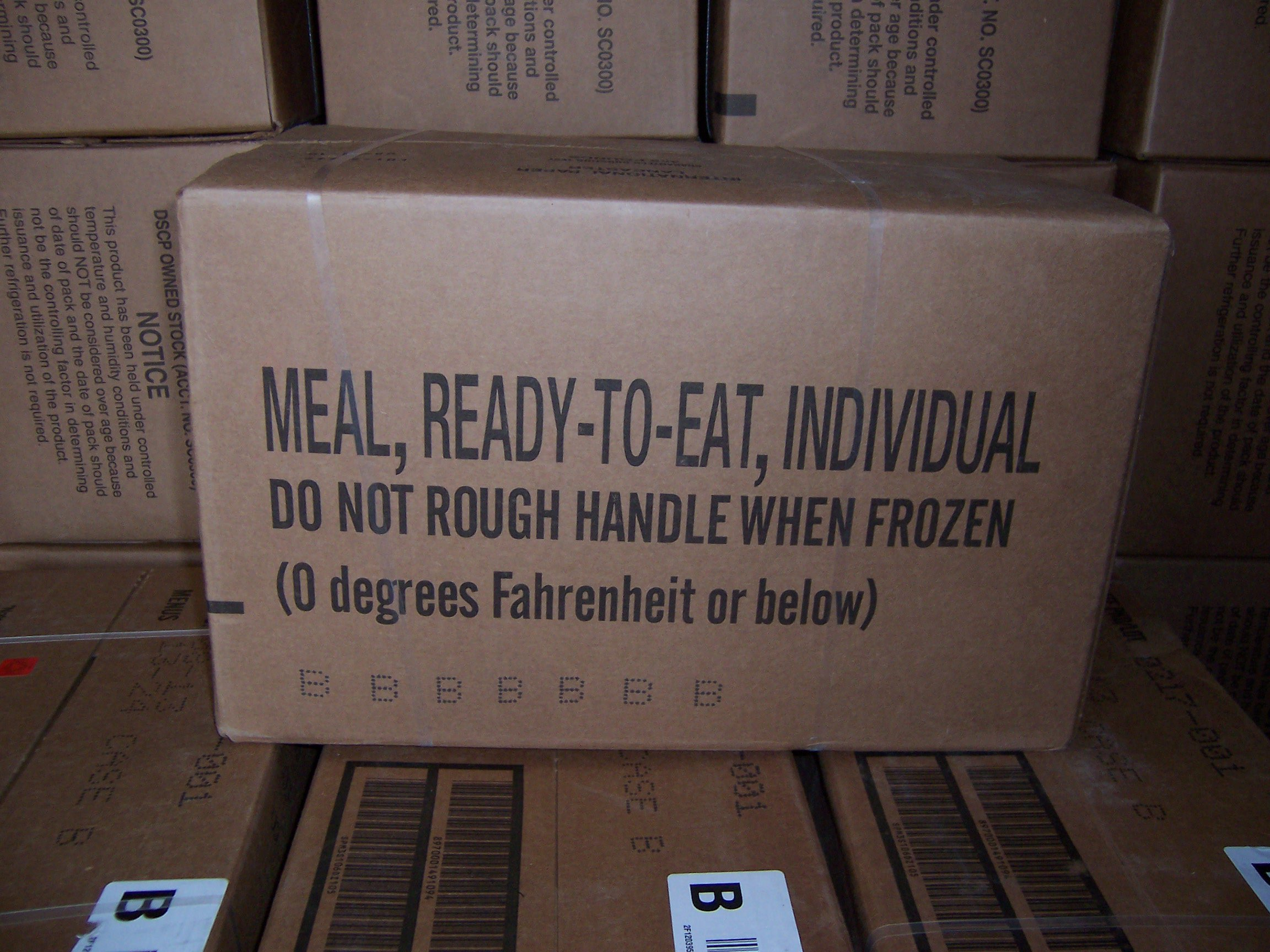 MRE MEALS MILITARY Case B READY TO EAT INSP 4/2016 Fresh! Meals 13-24 FACTORY SEALED by MRE
