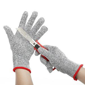 HPPE And Steel Cut Resistant Gloves High Performance Level-5 Protection Food Grad Certified Kitchen Glove For Cutting