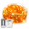 5M 6M 8M 10M 20M Remote Control Waterproof Battery Operated 8 Mode Timed Dimmable Copper Wire Firefly String Lights Warm White