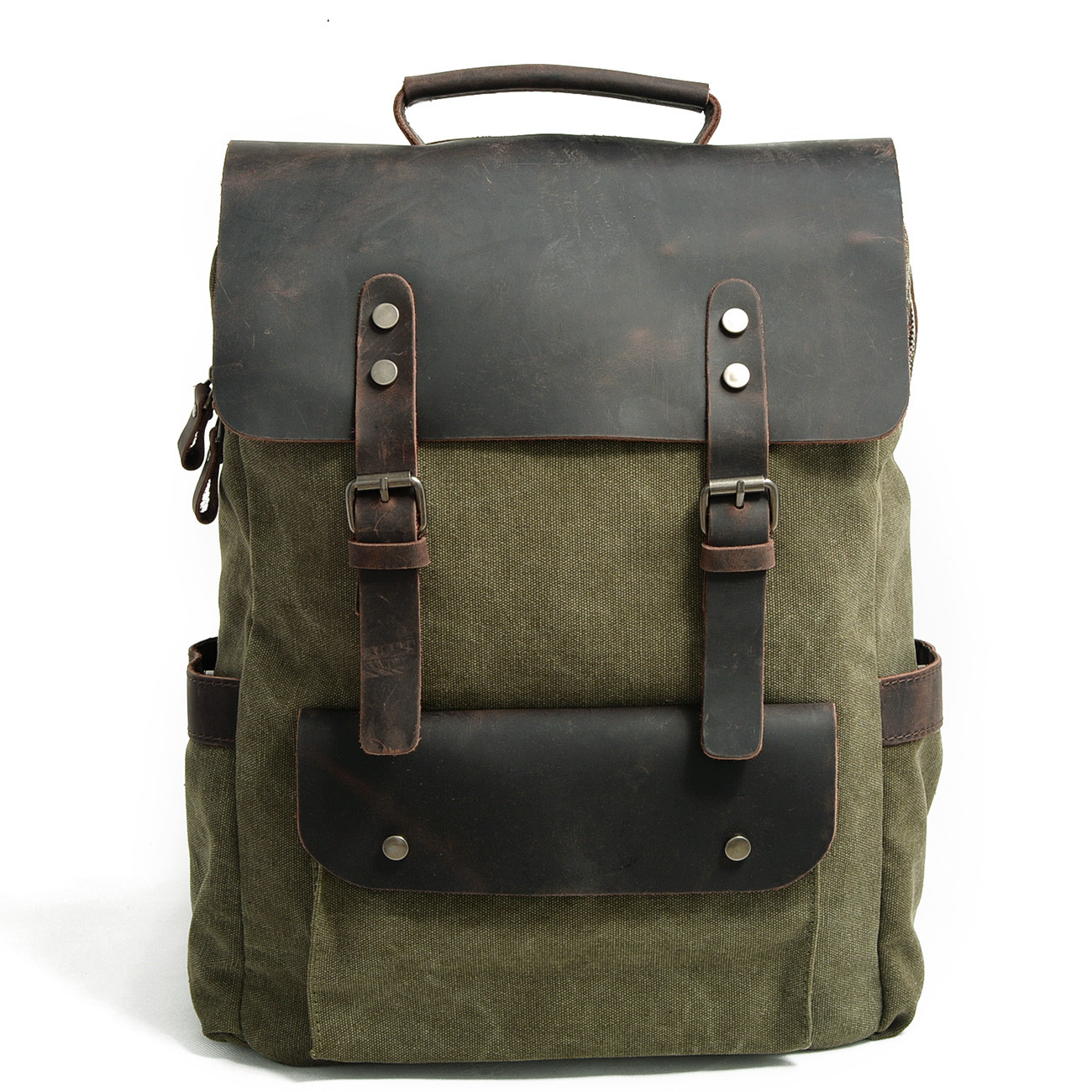 624745f4a3 China leather canvas backpack wholesale 🇨🇳 - Alibaba