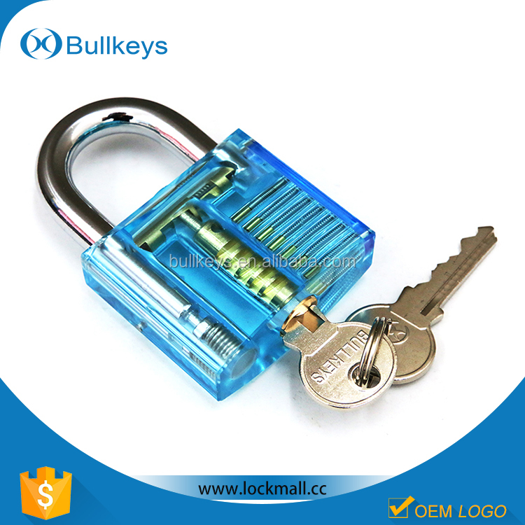 Special sales transparent padlock with two keys for locksmith tools birthday <strong>gift</strong> for men BK-1002