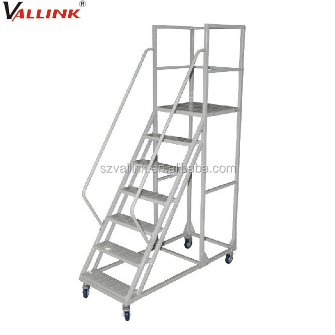 Portable Steps With Railing : High quality mobile portable stairs with handrail buy