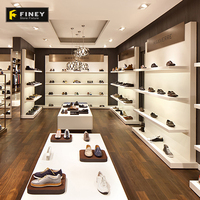 Custom Cheap Wall Mounted Shoe Display Case Ideas Decoration for Shoe Shop