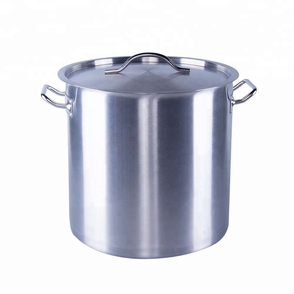 Stainless steel hot insulated cook big commercial restaurant hotel food double bottom custom stock pot