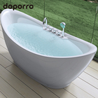 Fashionable acrylic durable whirlpool bathtub freestanding white bath tub
