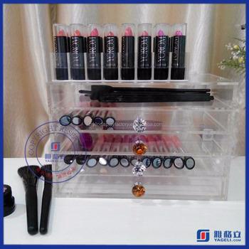 Yageli Clear Acrylic Makeup Box / Cheap Acrylic Makeup Drawers / Cheap Cosmetic Organizer - Buy ...
