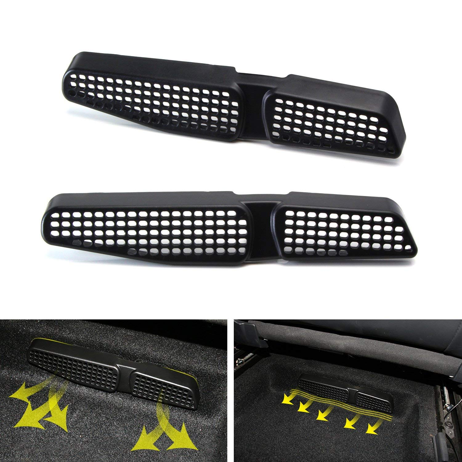 Get Quotations Ijdmtoy 2 Under Front Seat Air Vent Cover Grilles For 2017 Up Volkswagen