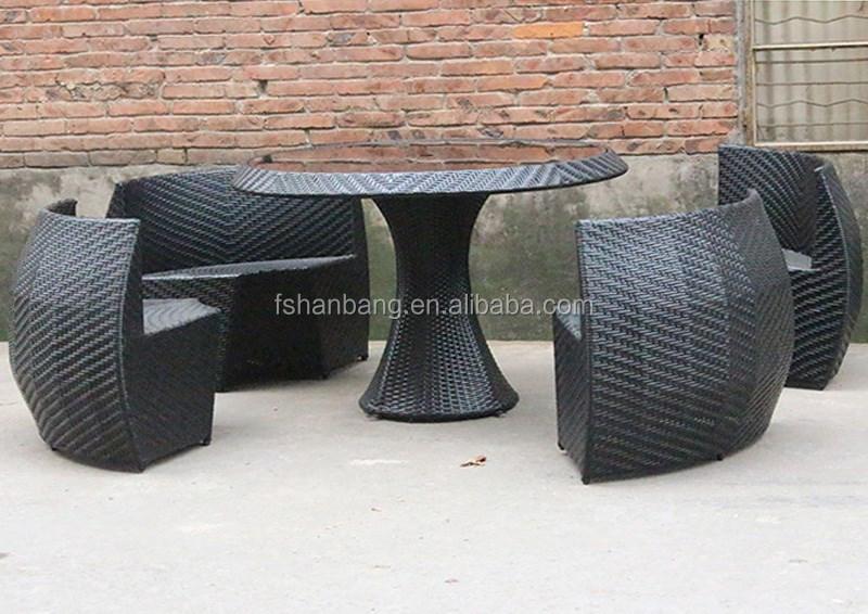 Rieten Balkon Meubels : Hotsale ronde salontafel stoelen set compact rotan balkon meubels
