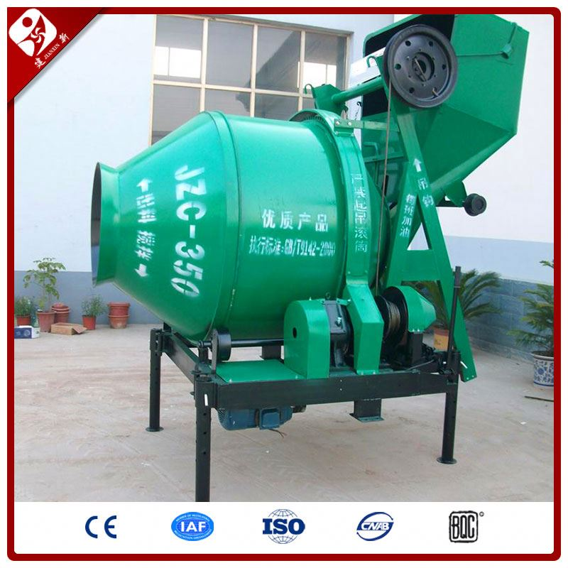 Jzc500(500L) Portable Electric Small Concrete Mixer For Ready Mixed Concrete With Plastic Drum