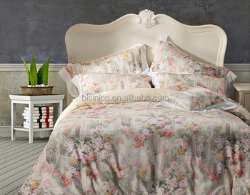 Baroque Style Golden Fl 100 Cotton Bedding Set High Quality Medusa Design Printed Luxury