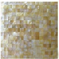 yellow mother of pearl shell mosaic tiles for wall decoration 3d board