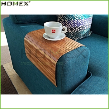 Bamboo Couch Sofa Arm Rest Wrap Tray Table Homex Bsci Factory