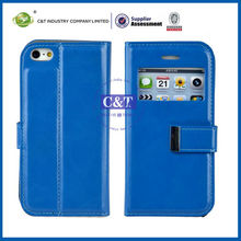 C&T luxury pu leather cover for iphone 4 defender case