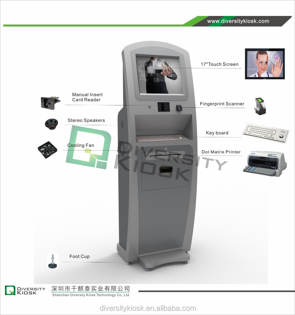 biometric fingerprint reader coin and bill validator health water vending machine/water kiosk/aqua vendor with ce