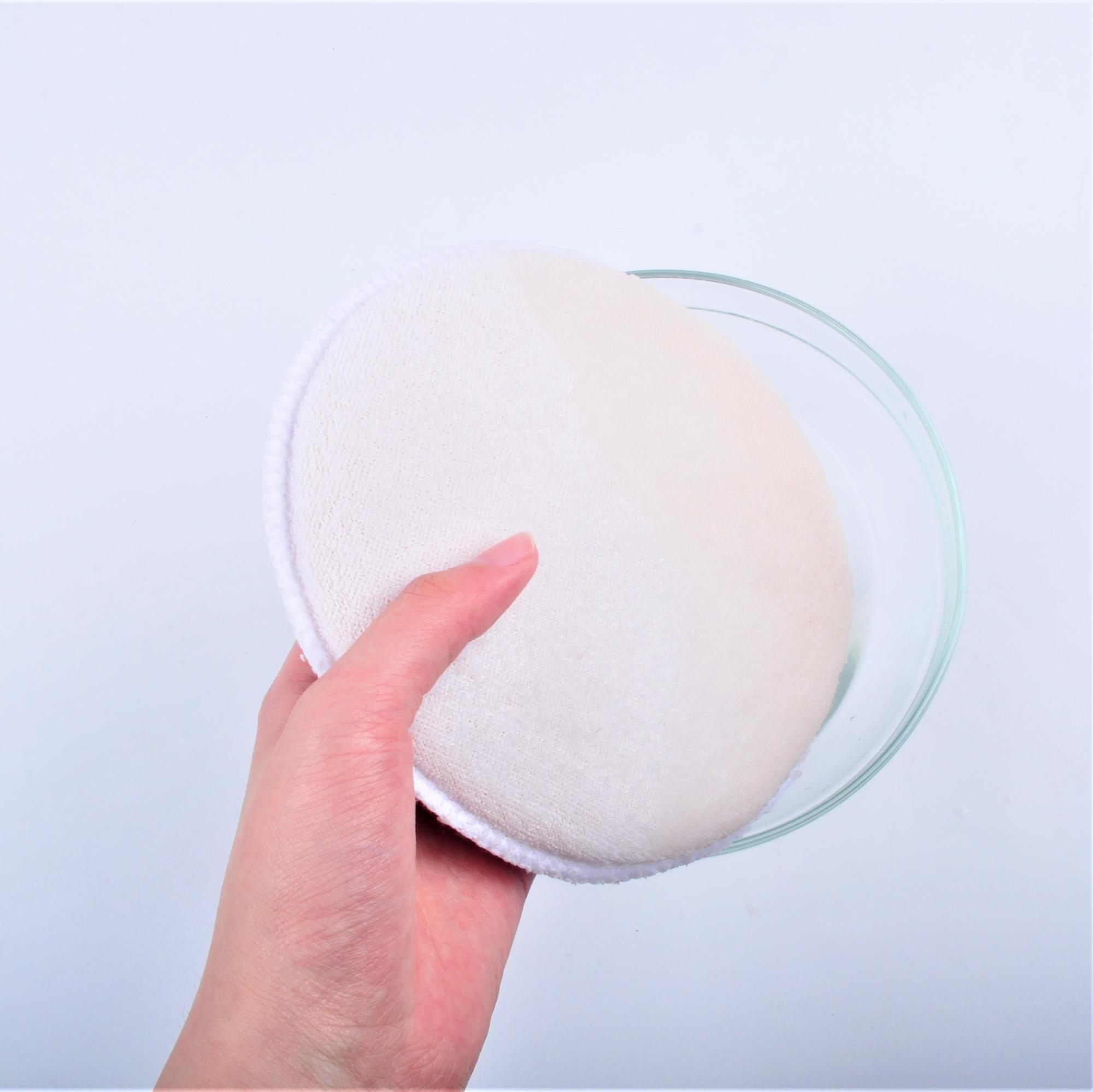 Household textile chenille sponge cleaning Microfiber towel and sponge round
