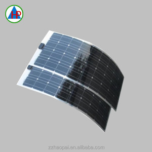 New Energy Thin film monocrystalline PV 100watt semi flexible solar panel for Motorhome