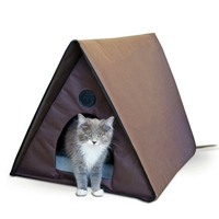 Heated outdoor cat house, thermal dog bed for
