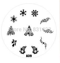 2015 new A Series A39 Nail Art Polish DIY Stamping Plates Image Templates Nail Stamp Stencil