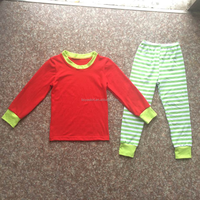 2017 Hot sale white green striped latest style Wholesale under wear children Clothes