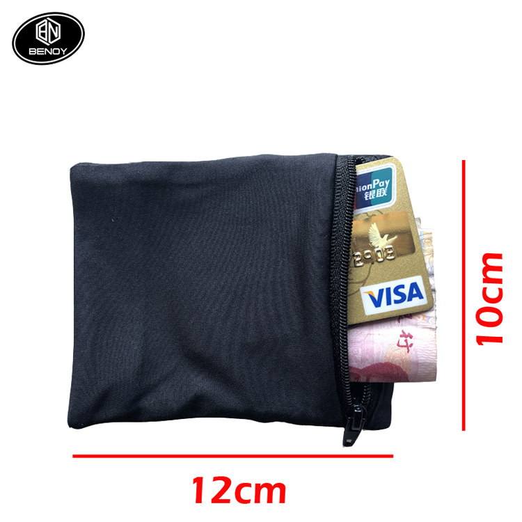Amazon Custom Support Pocket Wristband Badminton Tennis Sweatband Gym Cycling Running Phone Double Side Wrist Wallet