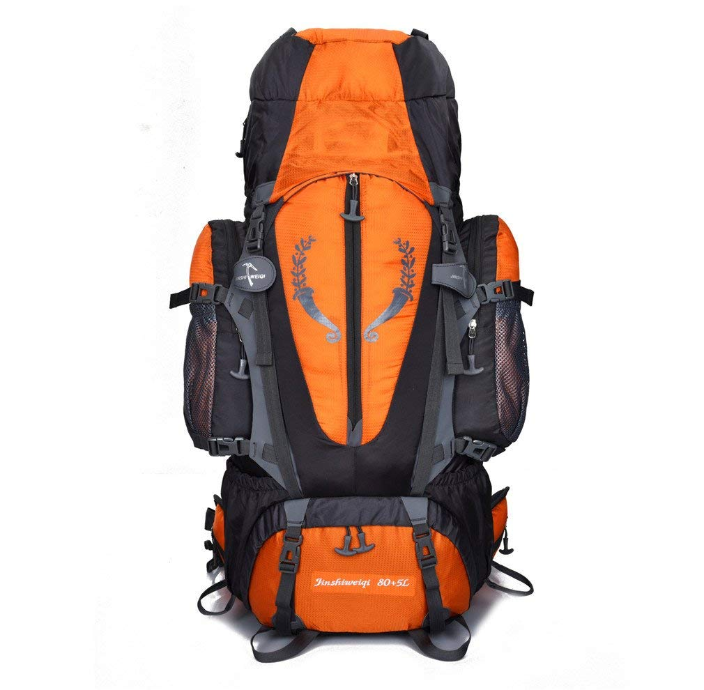 KEXKL 80+5L Outdoor Backpack Unisex Large Mountaineering Backpack Waterproof Nylon Bags Climbing Hiking Camping Rucksack one5 Other