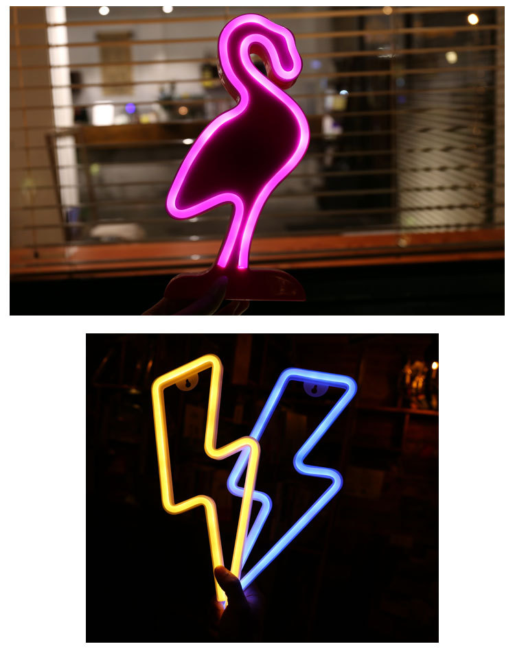 Christmas Decoration Light Various Letter Animal Shapes Neon Light Party Birthday Decoration Lights