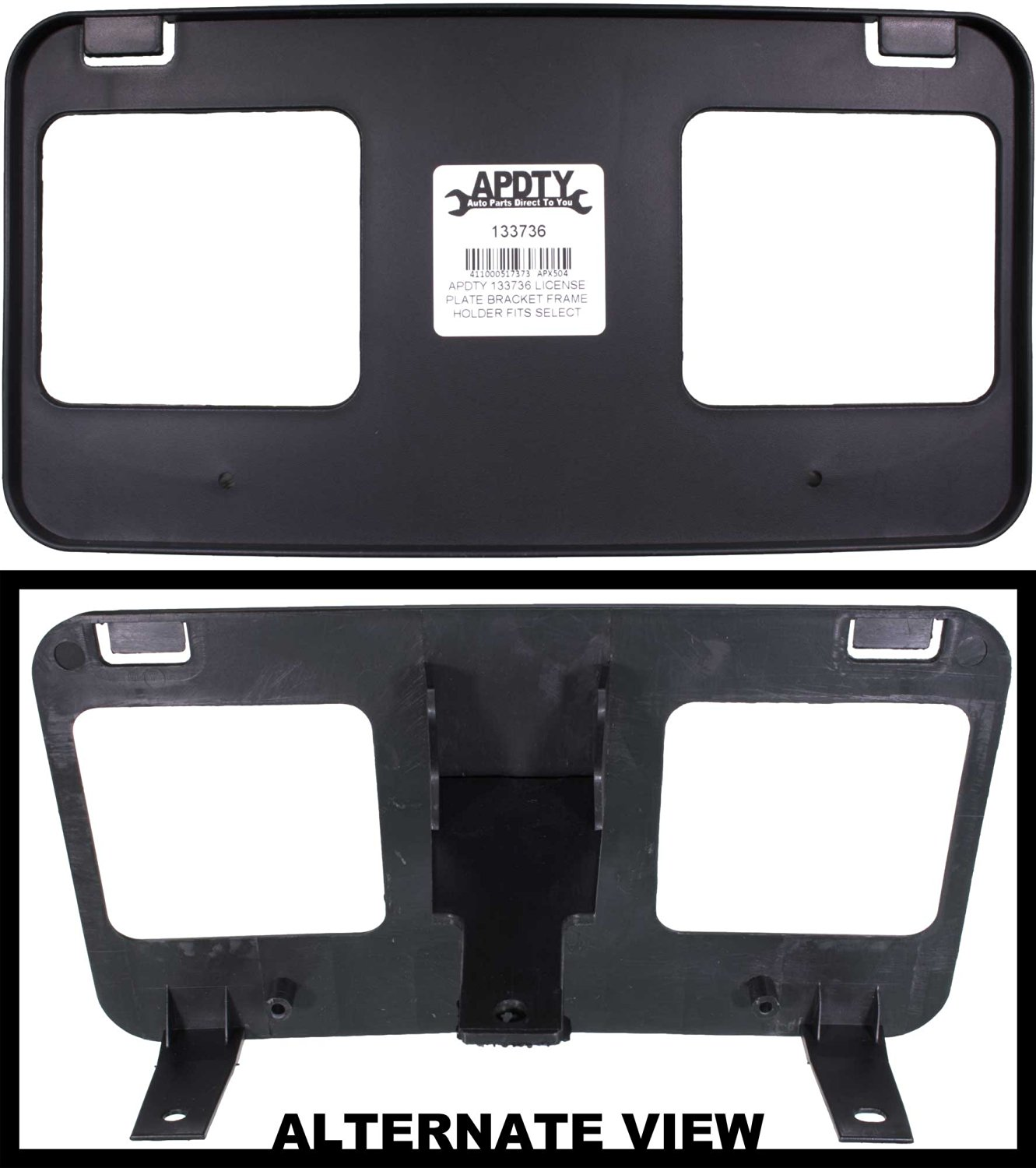 APDTY 133736 License Plate Bracket Plastic Frame Holder Fits Front (See Description For Specific Models) 1999-2004 Ford F-150 1999 F-250 (Replaces 1L3Z-17A385-AAA, 1L3Z17A385AAA)