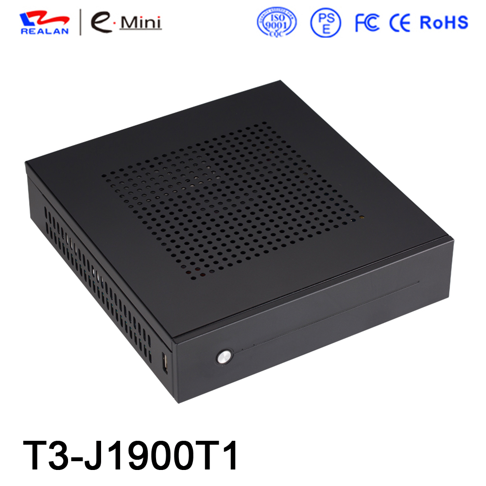 Realan hot sell T3 mini pc mini desktop computer without Intel J1900 cpu
