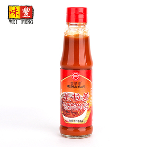 160g glass table bottle hot chilli sauce / sriracha chili sauce