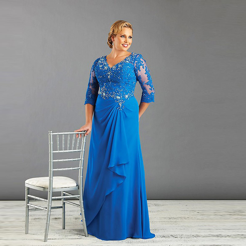 Real Brides Size 12: Aliexpress.com : Buy Blue Plus Size Mother Of The Bride