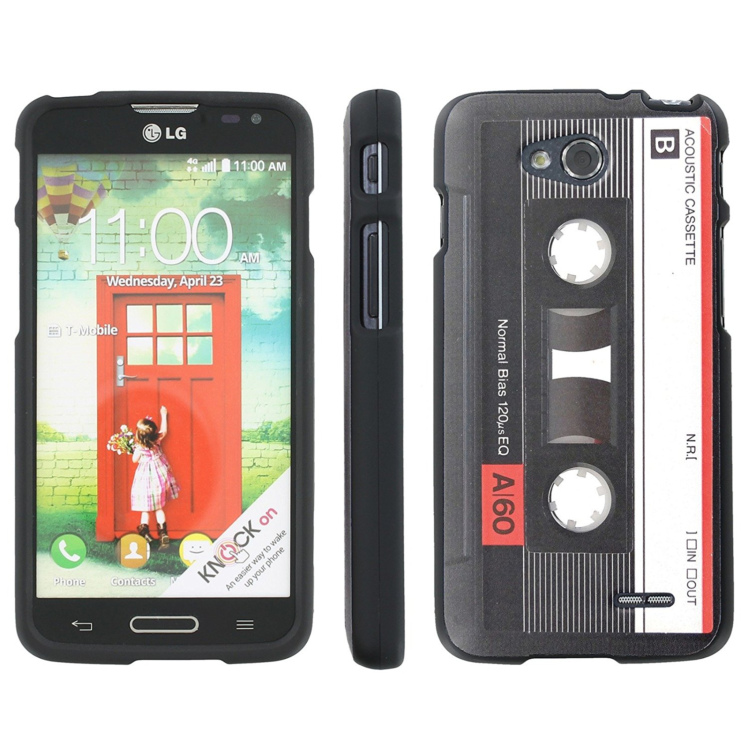 Mobiflare Slim Guard Armor Design Case for [LG Optimus L90 D415] - Cassette Tape