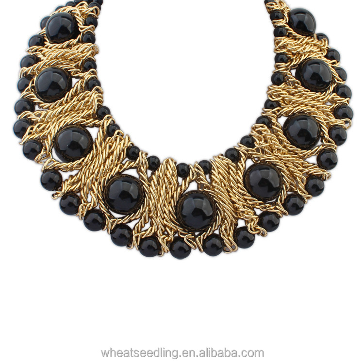 black stones astrophyllite white img and necklace products weave stone