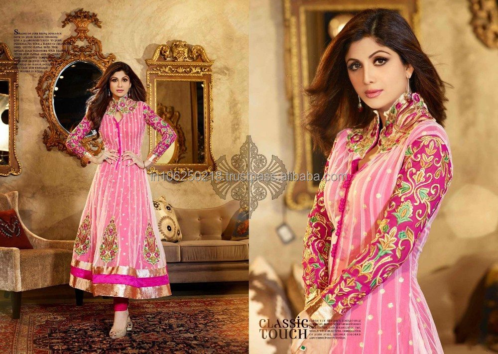 Indian Pakistani Long Readymade Anarkali Heavy Salwar Suit ...