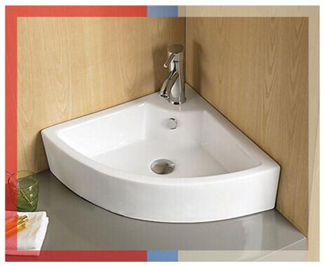 W3082 bathroom corner hand wash basin corner design ceramic basin. W3082 Bathroom Corner Hand Wash Basin Corner Design Ceramic Basin