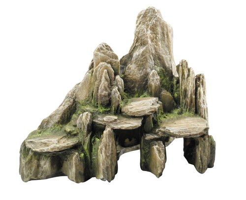 Aqua Della Stone Slate Decoration Rock, 25.5 x 15.5 x 20cm, Moss