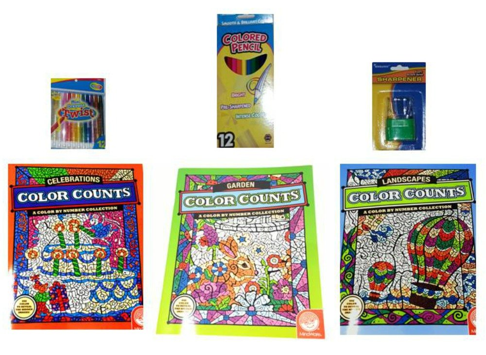 Buy Color Counts Landscapes/Gardens/Celebrations Coloring Books ...