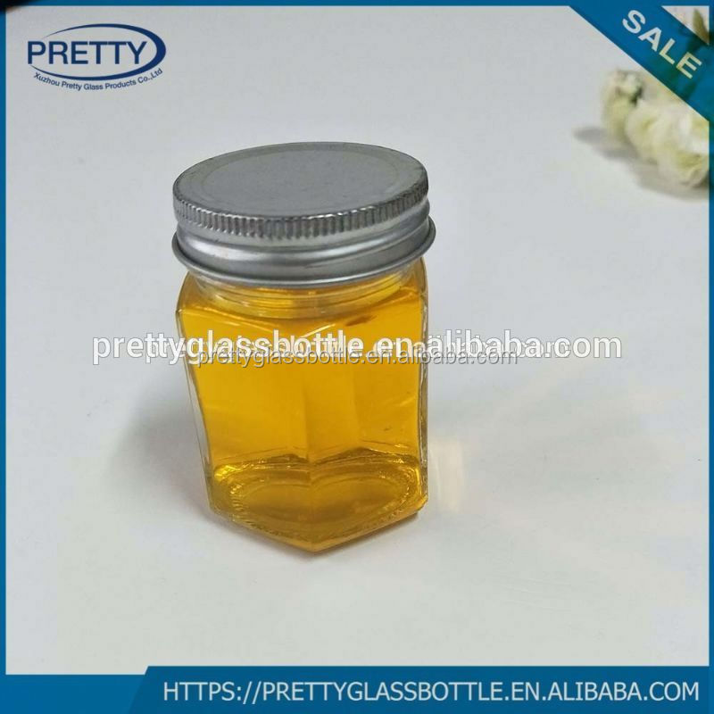 2017 Hot sale 12OZ hexagonal glass jar 250ml For Canning Storing