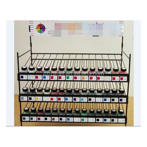 counter metal wire can pigment rack noil polish display stand