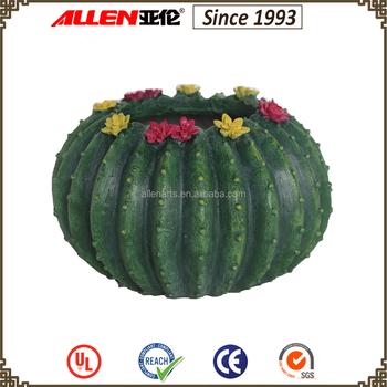 16.5 Cm Resin Ball Cactus Shape Planter Pot - Buy Ball Cactus Shape ...