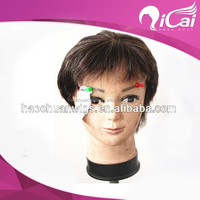 Hot selling short wigs for men