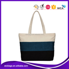 factory OEM ladies's canvas beach bag shopping bag with custom logo