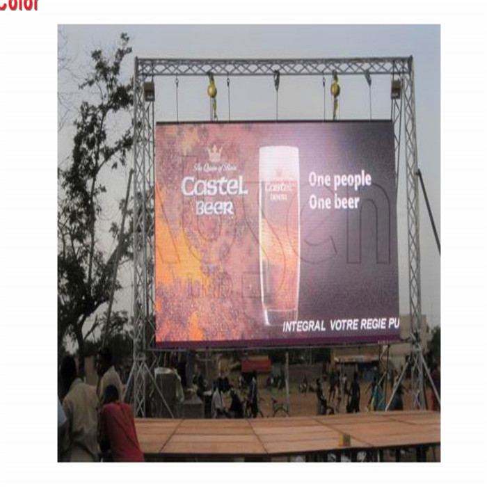 Big Video Advertising Digital Electronic Outdoor Rental P4.81 500x500mm Cabinet Led Display <strong>Screen</strong>