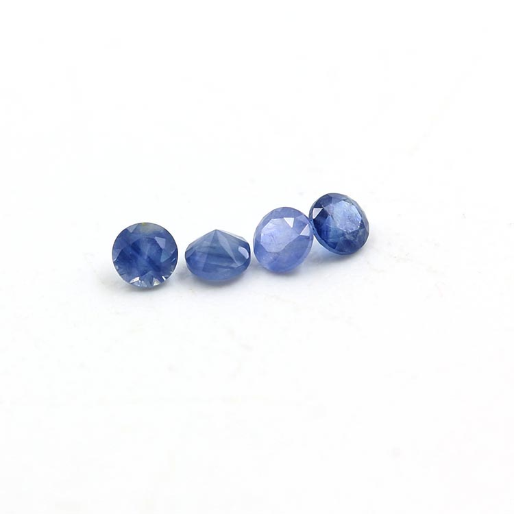 faceted stone natural round brilliant cut 2.0mm blue sapphire loose gemstone price per carat