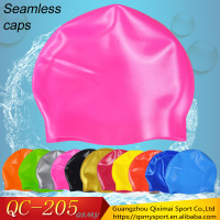 Free sample seamless swim cap beautiful promotional swimcap silicone swim cap
