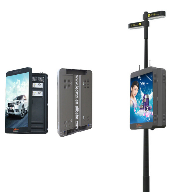 Rgx Iphone Design Street Pole Led Display Wireless Control
