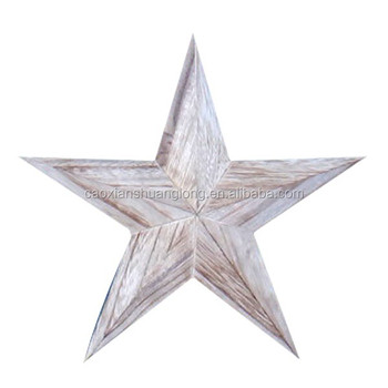 Wood Crafts Five Point Star Wall Hanging Home Decoration Use Wooden