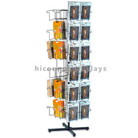Creative Promotional 6-Tier Rotating Floor Standing Metal Wire 36 Pockets Ladys Hosiery Display Rack