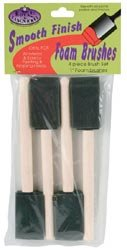 "Bulk Buy: Royal Brush Foam Brush Set 1"" Width 4/Pkg RFOMW-4P (6-Pack)"