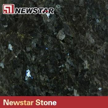 Polished Black Emerald Pearl Granite